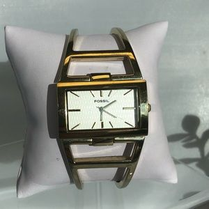 Fossil ES1314 Gold tone crystal face watch